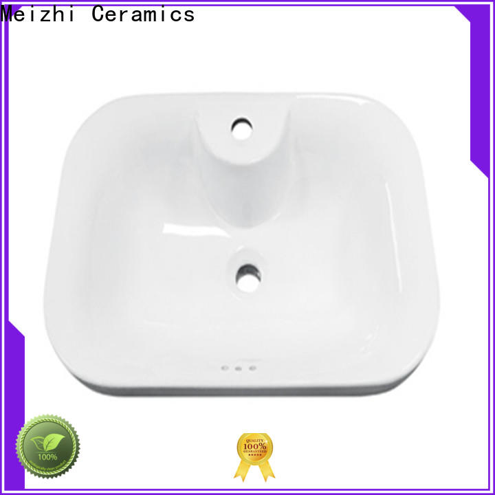 Meizhi table top wash basin designs customized for washroom