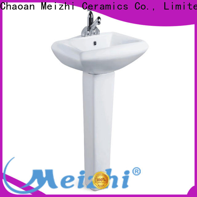 Meizhi pedestal lavatory customized for bathroom