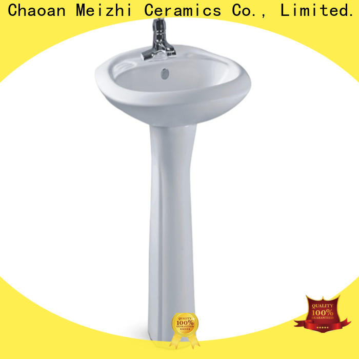 Meizhi half pedestal basin manufacturer for home