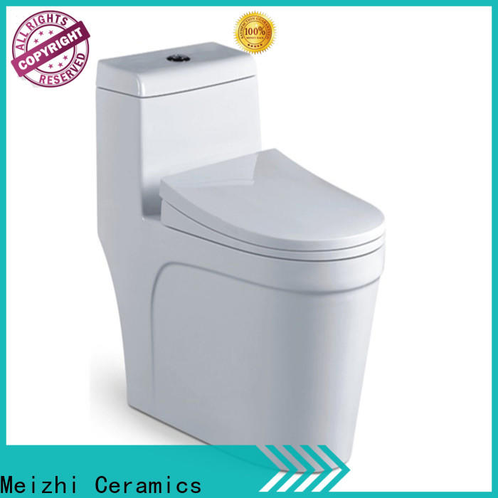 Meizhi new design one piece elongated toilet wholesale for hotel