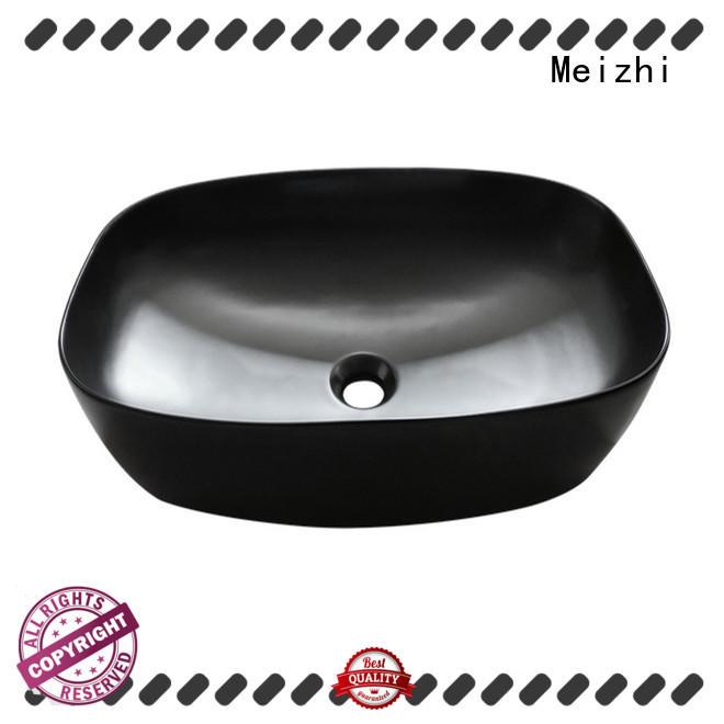 Meizhi basin black manufacturer for washroom