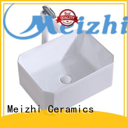 Meizhi modern design wash basin size factory price for washroom