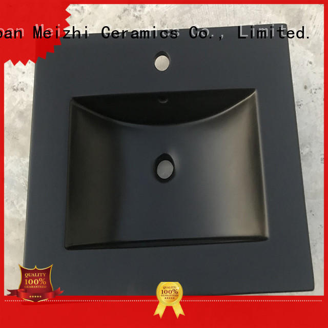 Meizhi basin black factory price for washroom