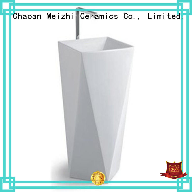 Meizhi high quality pedestal wash basin supplier for home