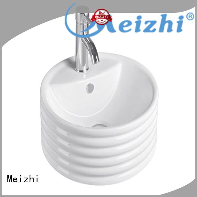 Meizhi white wash basin models directly sale for hotel