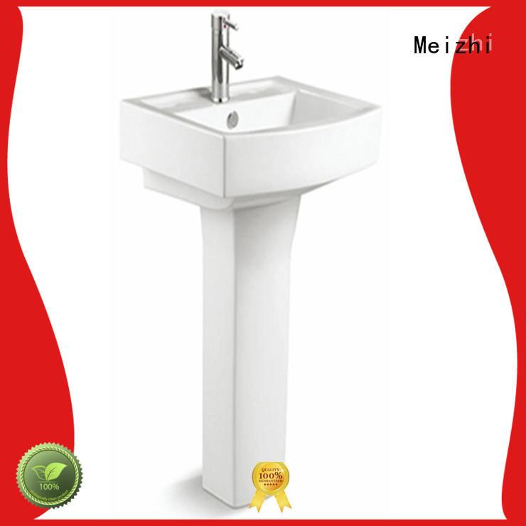 popular pedestal wash basin customized for hotel