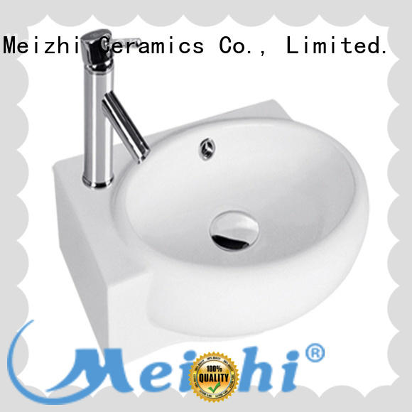 Meizhi stable wall hung basin factory for washroom