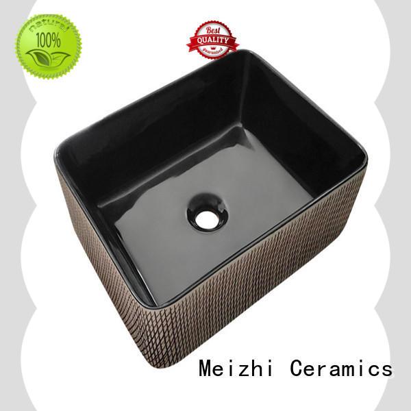Meizhi ceramic black sink basin supplier for hotel