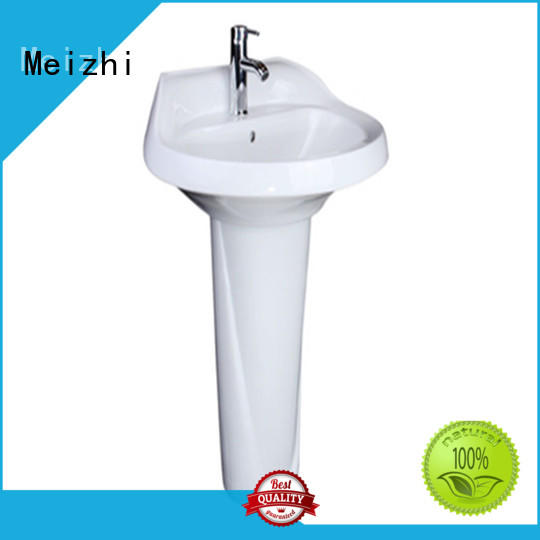 Meizhi ceremic small pedestal sink directly sale for hotel