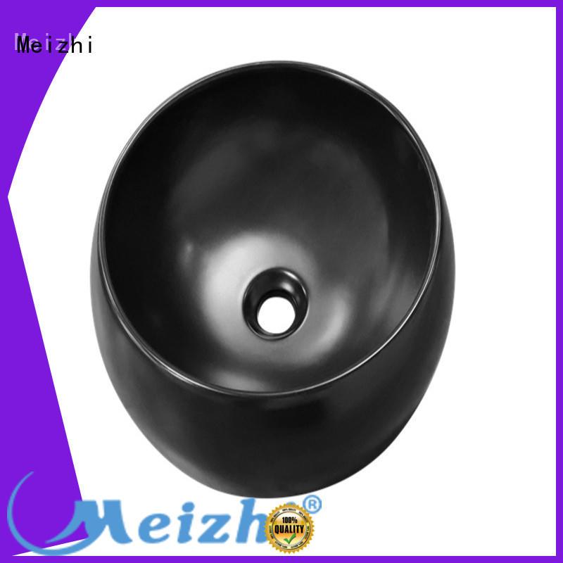 ceramic black bathroom sink manufacturer for washroom