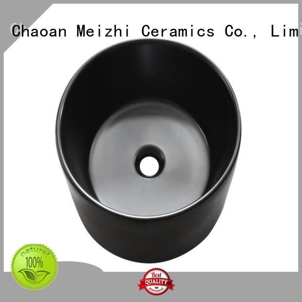 Meizhi black sink basin custom for cabinet