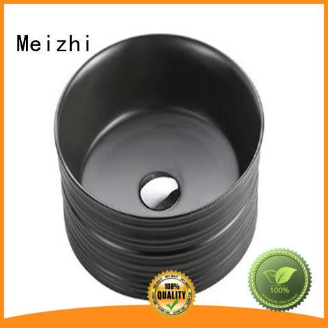 Meizhi modern black sink basin factory for washroom