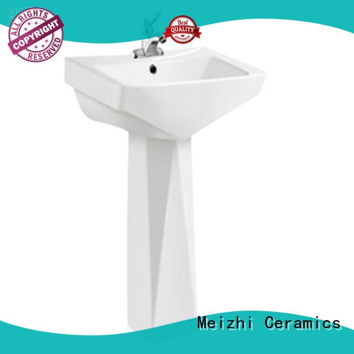 Meizhi high quality pedestal basin supplier for hotel