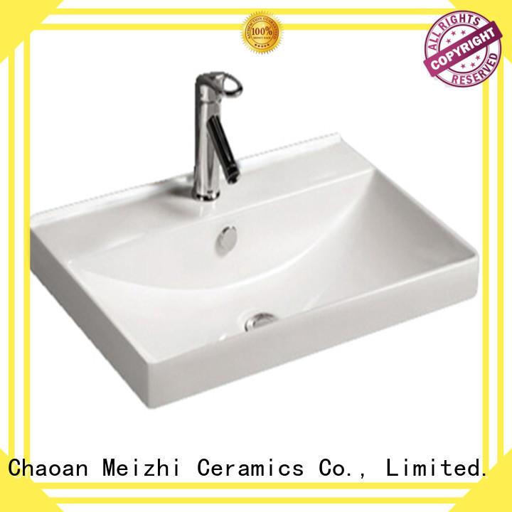 Meizhi vanity basin supplier for hotel