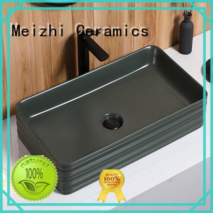 Meizhi popular black bathroom sink custom for bathroom