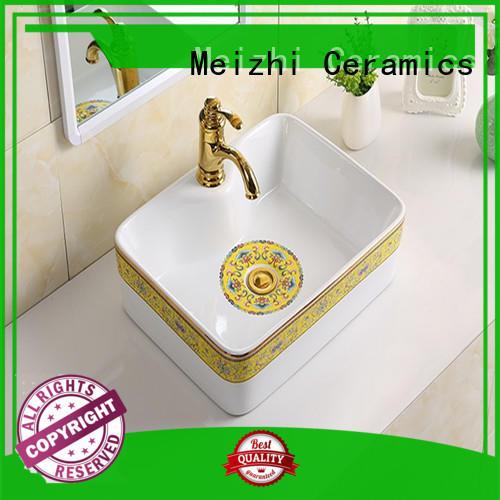 elegant wash basin size customized for washroom