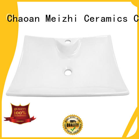 Meizhi white wash basin size directly sale for hotel