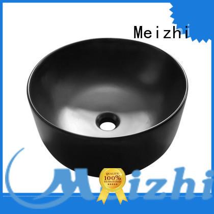 Meizhi black sink basin custom for bathroom
