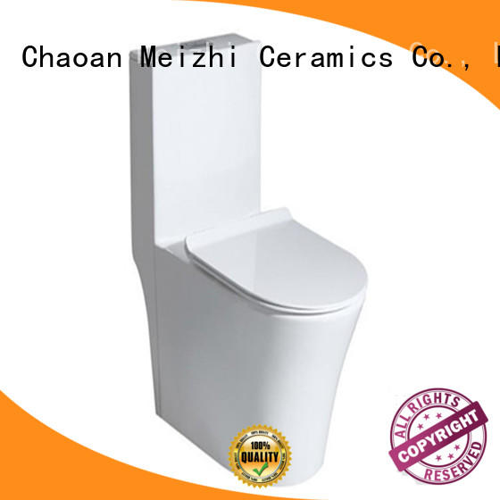 Meizhi siphonic best one piece toilet customized for bathroom