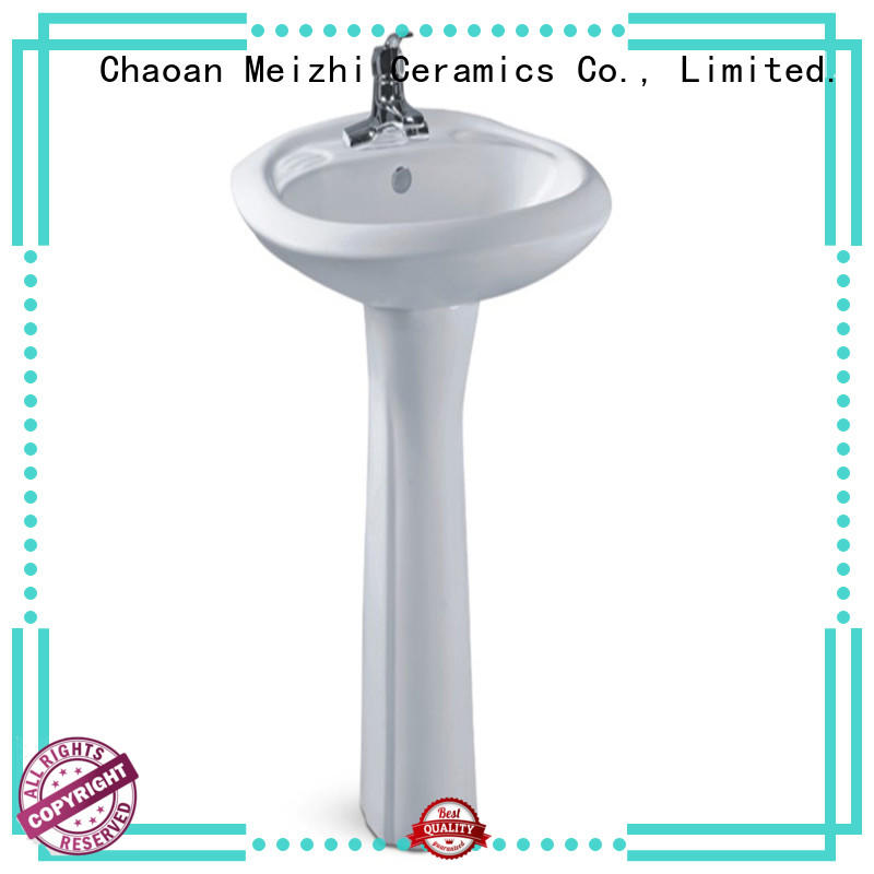 Meizhi contemporary corner basin with pedestal factory for home