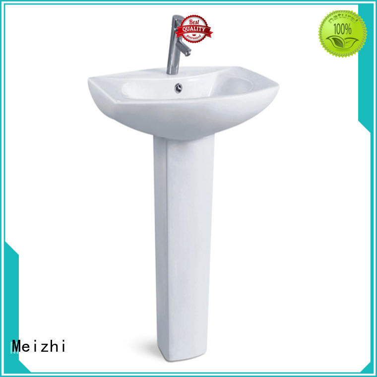 Meizhi contemporary pedestal wash basin customized for hotel