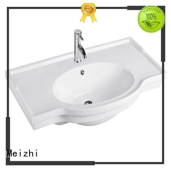 Meizhi ceramic vanity basin customized for bathroom