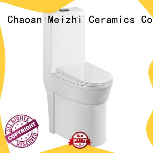 Meizhi siphonic one piece comfort height toilet supplier for bathroom