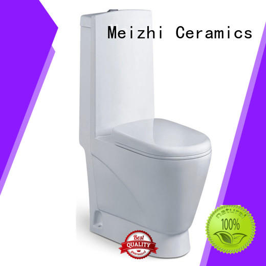 ceramic one piece toilet seat customized for hotel
