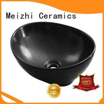 Meizhi black sink basin custom for washroom