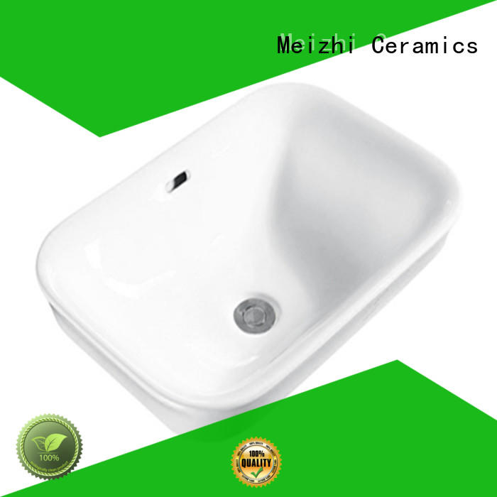 Meizhi counter top basin unit supplier for bathroom