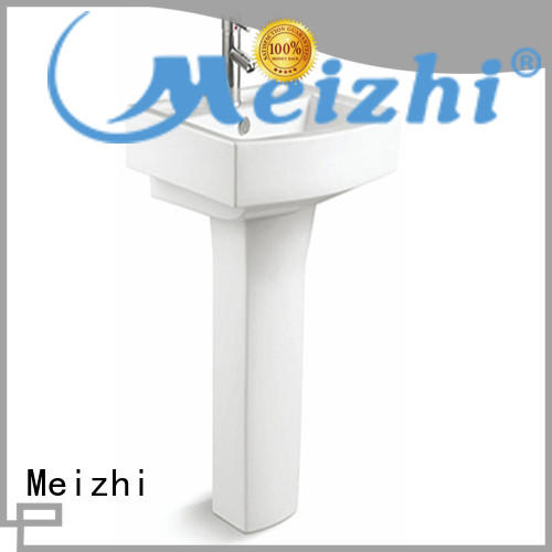 Meizhi popular half pedestal basin manufacturer for hotel