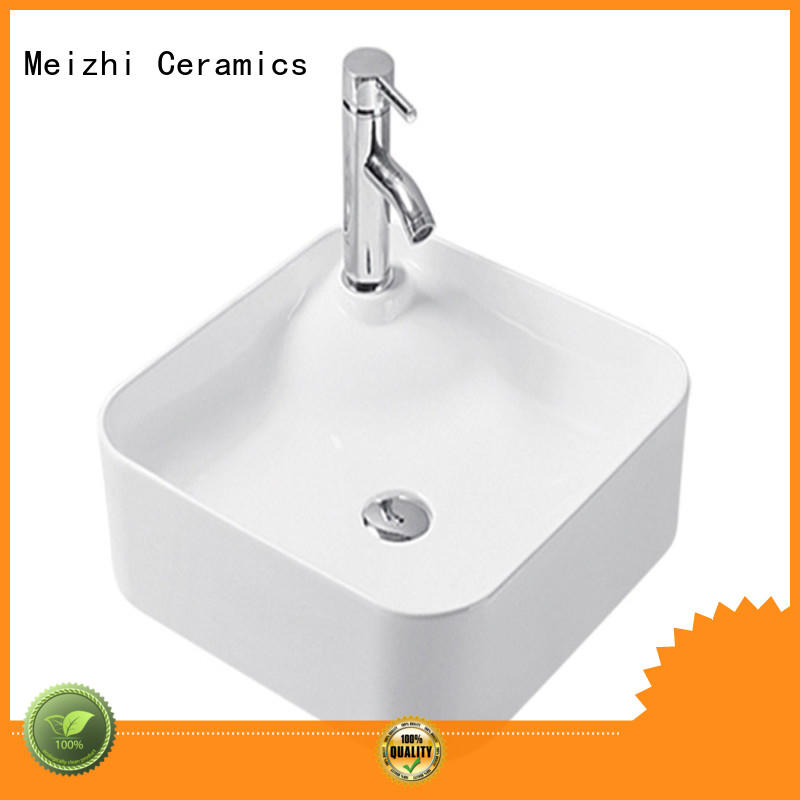 Meizhi modern design ceramic basin wholesale for hotel