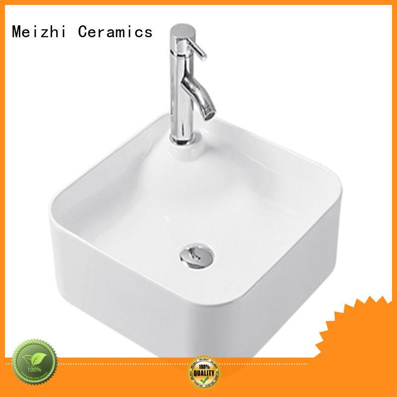 Meizhi modern design ceramic basin wholesale for hotel