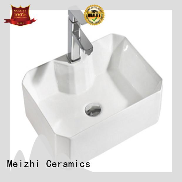 Meizhi modern design slimline wash basin for washroom