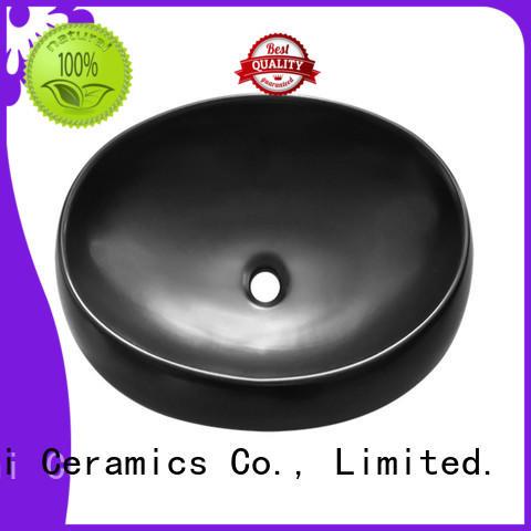 Meizhi black bathroom sink factory for cabinet