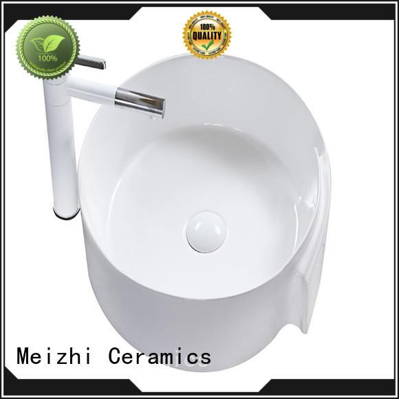 Meizhi ceramic wash basin customized for hotel