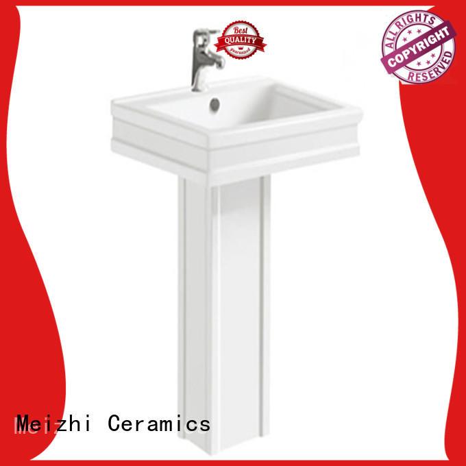 Meizhi corner basin with pedestal supplier for home