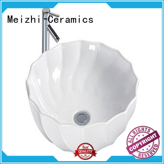 fancy round ceramic basin factory price for home Meizhi