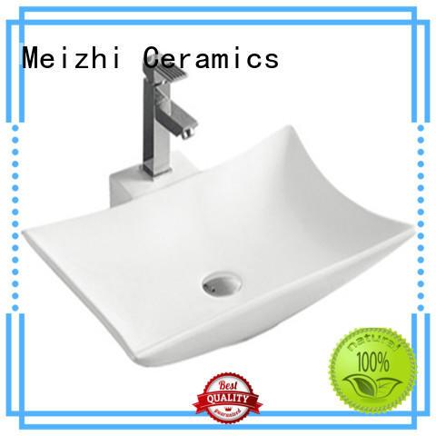 Meizhi white ceramic basin wholesale for hotel
