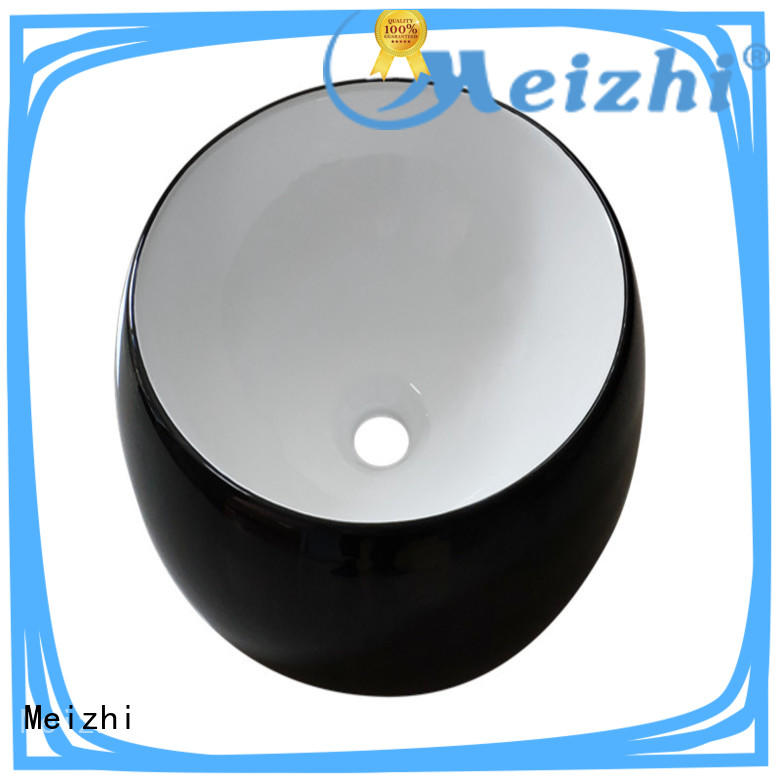 Meizhi black sink basin factory price for washroom