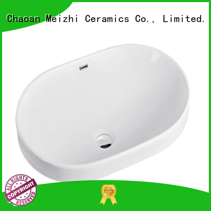 Meizhi counter top basins supplier for bathroom