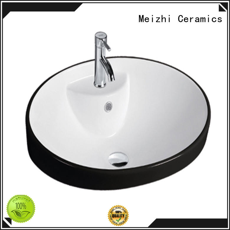 Meizhi gold round wash basin wholesale for washroom