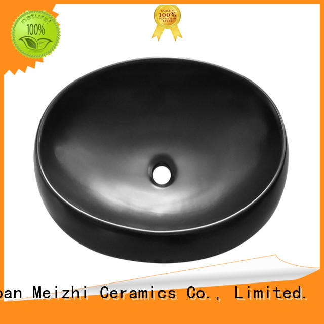 Meizhi black bathroom sink factory for cabinet