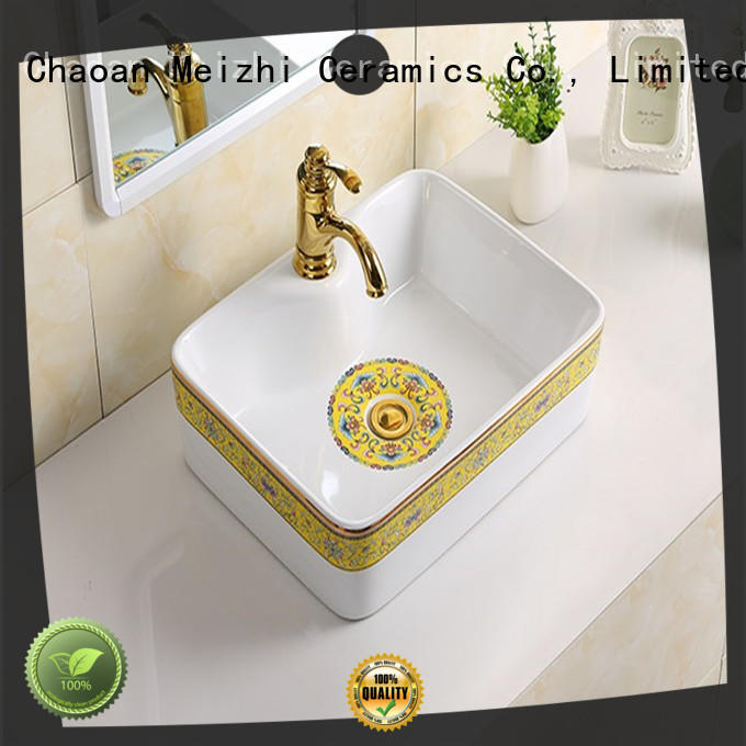 Meizhi white round wash basin factory price for hotel