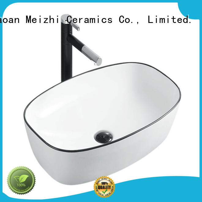 Meizhi high quality black sink basin wholesale for hotel