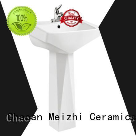 ceremic pedestal lavatory customized for washroom
