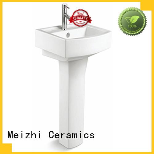 Meizhi modern pedestal sink directly sale for bathroom