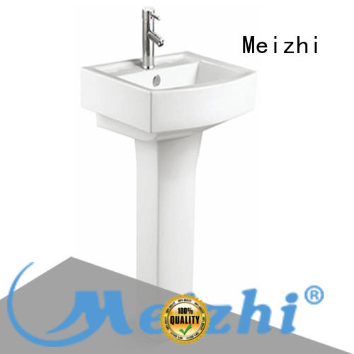 Meizhi high quality corner basin with pedestal directly sale for home
