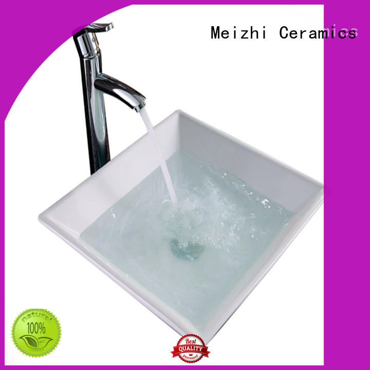 Meizhi ceramic wash basin customized for washroom