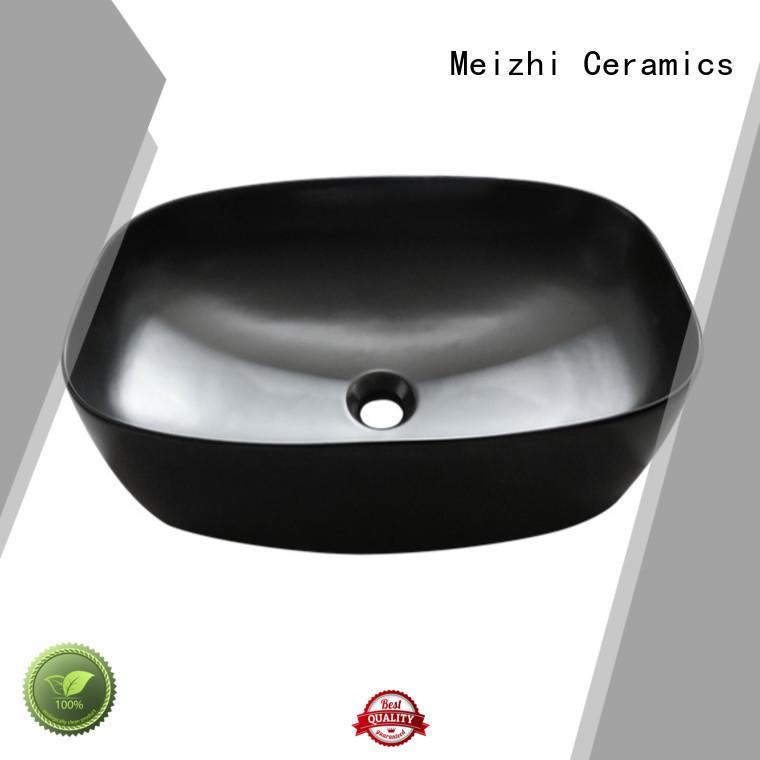 Meizhi black bathroom basin factory price for washroom